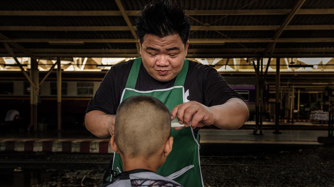 Track-side Barber